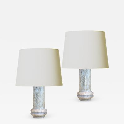 Bergboms Mod Pair of Table Lamps in Marble by Bergboms