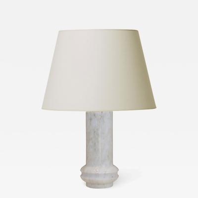Bergboms Mod table lamp with sculpted knob in marble by Bergboms
