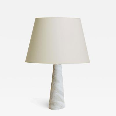 Bergboms Mod triangular table lamp in marble by Bergboms