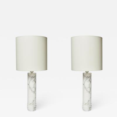 Bergboms Pair of Bergboms Marble Lamps