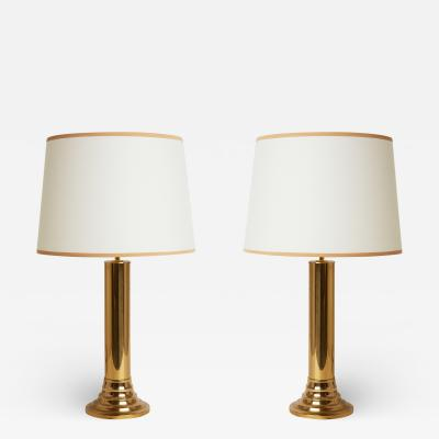 Bergboms Pair of Midcentury Brass Table Lamps by Bergboms