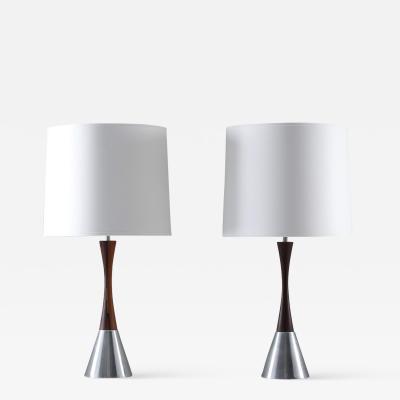 Bergboms Pair of Scandinavian Midcentury Table Lamps by Bergboms