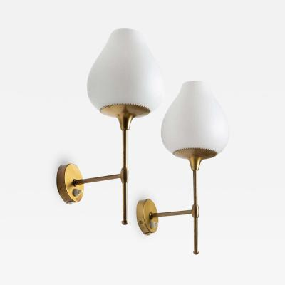 Bergboms Pair of Swedish Midcentury Wall Lamps by Alf Svensson for Bergboms