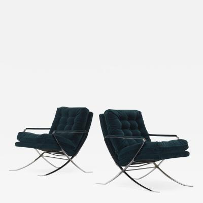 Bernhardt Furniture Company Bernhardt Furniture Co lounge chairs pair