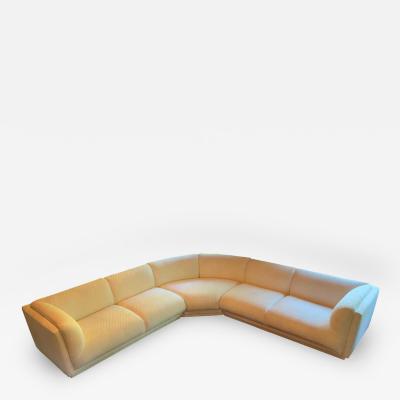 Bernhardt Furniture Company Vintage Bernhardt 3 pc Sectional Sofa Attributed to Milo Baughman 1989