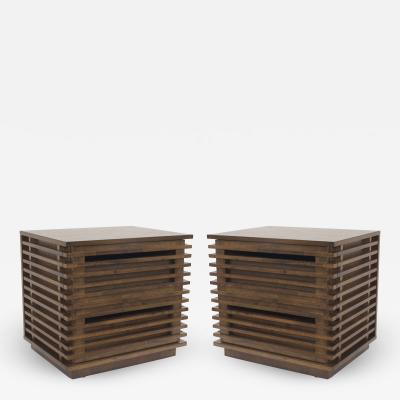 Bernhardt Linea Bernhardt Linea Contemporary Walnut Bedside Tables
