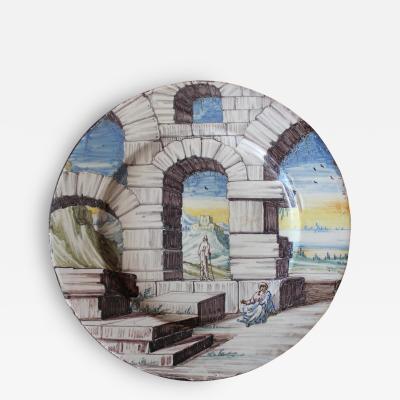 Bertolini Bros A Rare 18th C Venetian Maiolica Plate