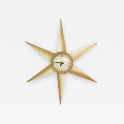 Bilt Rite Manufacturing Co Mid Century Modern Star Electric Clock Bilt Rite Mfg Co