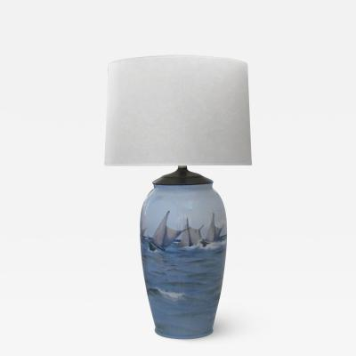 Bing Gr ndahl A large Danish Bing and Grondahl Ceramic table lamp