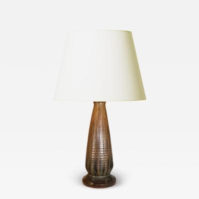 Bing Gr ndahl Arts and Crafts Table Lamp by Michael Andersen Sons