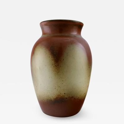 Bing Gr ndahl Stoneware vase The glaze in brown shades