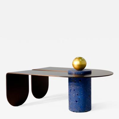 Birnam Wood Studio U I Coffee Table with Brass Storage Sphere