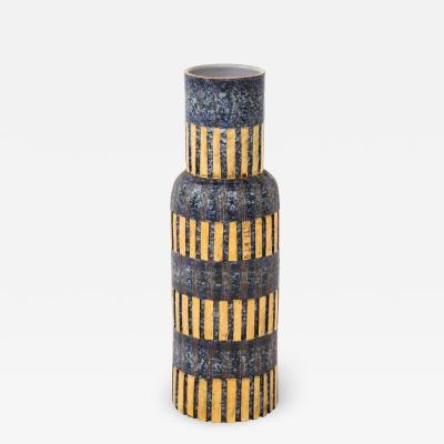 Bitossi Aldo Londi Bitossi Blue and Gold Ceramic Vase