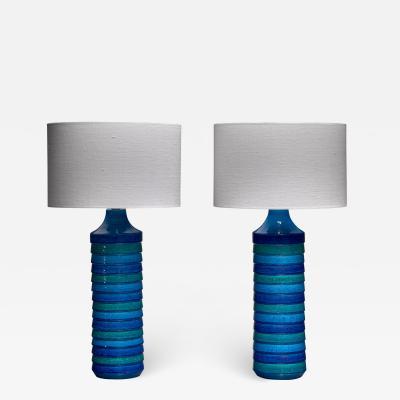 Bitossi Aldo Londi pair of large ceramic table lamps for Bitossi Italy 1960s