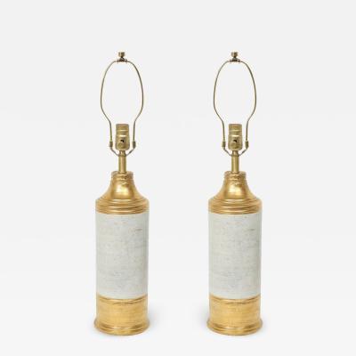 Bitossi Birch Tree Gold Glazed Ceramic Lamps