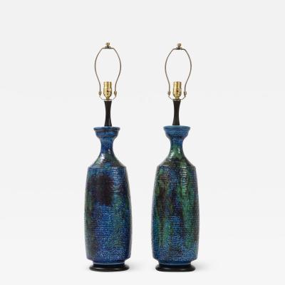 Bitossi Bitossi Blue Green Black Ceramic Lamps