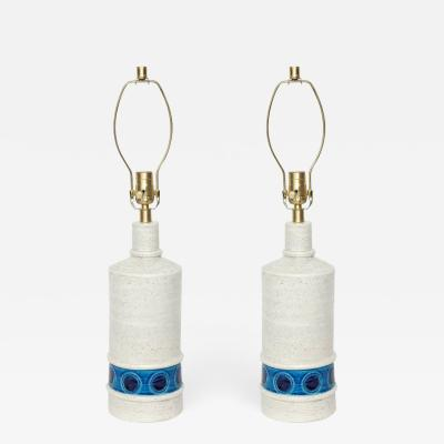 Bitossi Bitossi Bone White Blue Ceramic Lamps