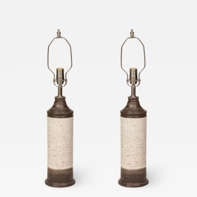 Bitossi Bitossi Brown Birch Tree Glazed Ceramic Lamps