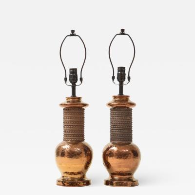 Bitossi Bitossi Copper Lustre Glazed Lamps