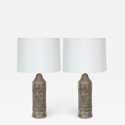 Bitossi Bitossi Incised Pewter Glazed Cermic Lamps
