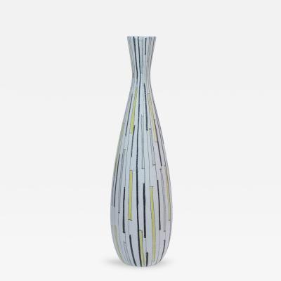 Bitossi Bitossi Raymor Ceramic Vase Yellow White Black Geometric Signed Italy 1950s