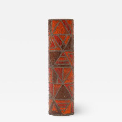 Bitossi Bitossi Raymor Orange Mosaic Vase