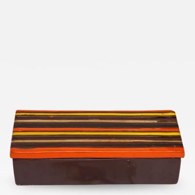 Bitossi Bitossi Striped Ceramic Box Signed