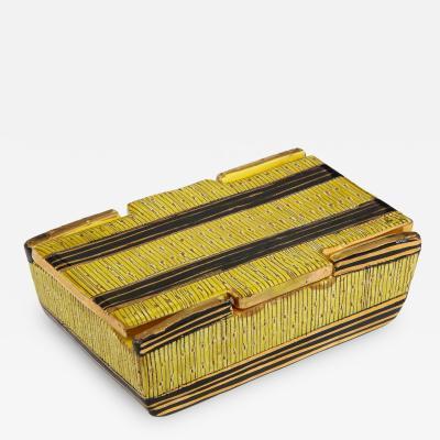 Bitossi Bitossi Yellow Safety Pin Ceramic Box Signed