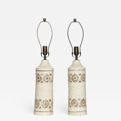Bitossi Bitossi for Bergboms table lamps a pair