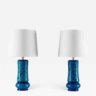Bitossi Mid Century Table Lamps by Aldo Londi for Bitossi