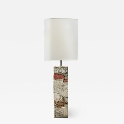Blend Roma Handcrafted Table Lamp in Concrete and Wood Italy 2019
