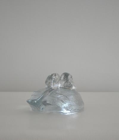 Blenko Glass Co Pair of Hand Blown Glass Bookends