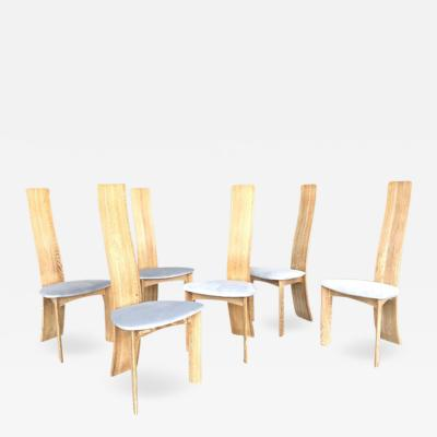 Bob Dries Van Den Berghe Bob Dries Van Den Bergh 6 Cerused Oak Danish Modern Dining Chairs