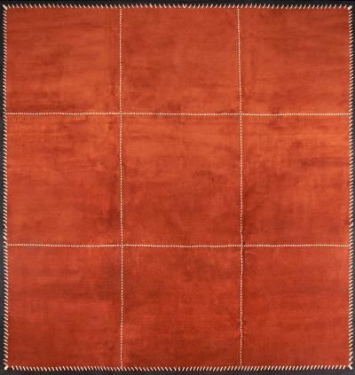 Boccara Boccara Hand knotted Artistic Rug Design N 77 Orange