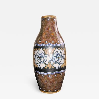 Boch Fr res Keramis Co 1930s Boch Stoneware Vase
