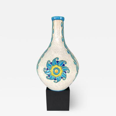 Boch Fr res Keramis Co Art Deco Pottery Vase