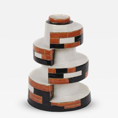 Boch Fr res Keramis Co Belgian Art Deco Period Ceramic Vase by Boch Freres Keramis Circa Late 1920s