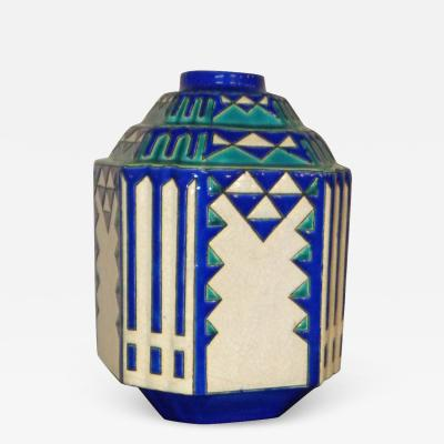 Boch Fr res Keramis Co Catteau Boch Geometric Modernists Boch Fr res Pair Vase