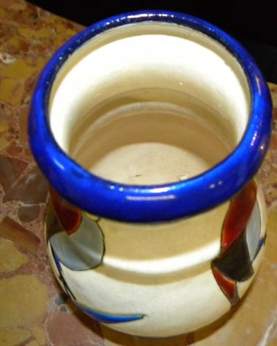 Boch Fr res Keramis Co Catteau Era Ceramic Art Deco Vase with Bird