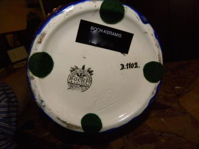 Boch Fr res Keramis Co Catteau Era Ceramic Art Deco Vase with flower motif