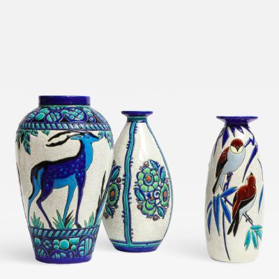 Boch Fr res Keramis Co Earthenware Vases Sold Individually