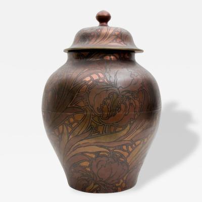 Boch Fr res Keramis Co Massive Boch Freres Keramis Lidded Jar Circa 1920