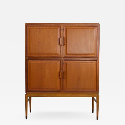 Bodafors Axel Larsson Mahogany Cabinet with Four Frontal Doors by Bodafors