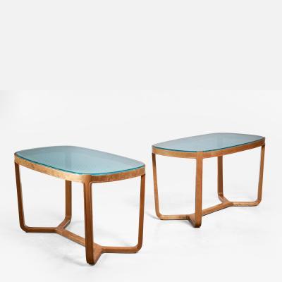 Bodafors Bertil Fridhagen pair of coffee tables for SMF Sweden 1940s