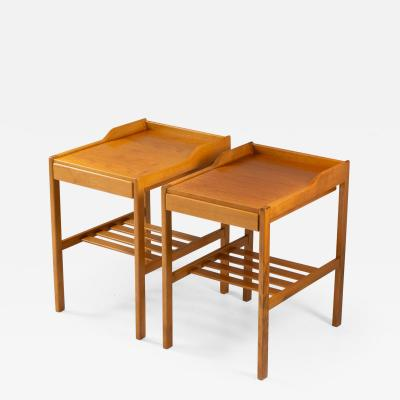 Bodafors Scandinavian Midcentury Bedside Tables by Bertil Fridhagen for Bodafors 1960s