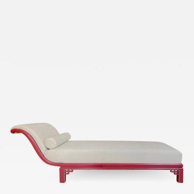 Boet Sweden Exceptional Daybed in Vermillion Lacquer by Otto Schulz for Boet