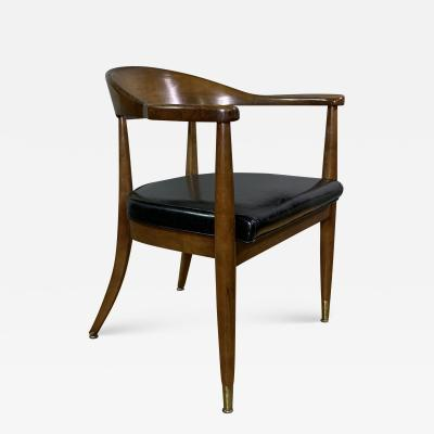 Boling Chair Company 1950s American Modern Walnut Armchair Boling Chair Co