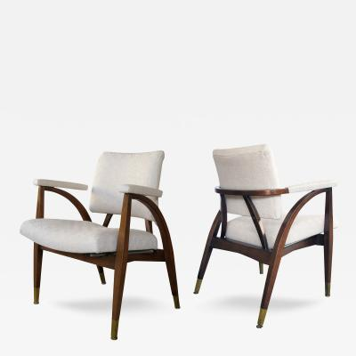 Boling Chair Company A Pair of American Arm Chairs by Boling Chair Company 1949