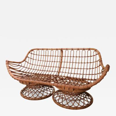 Bonacina A Bamboo Sofa by Bonacina Italy 1950