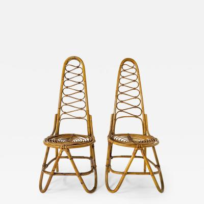Bonacina PAIR OF ITALIAN BAMBOO CHAIRS 1960